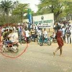 Weird Photo of Okada Man Carrying Passenger