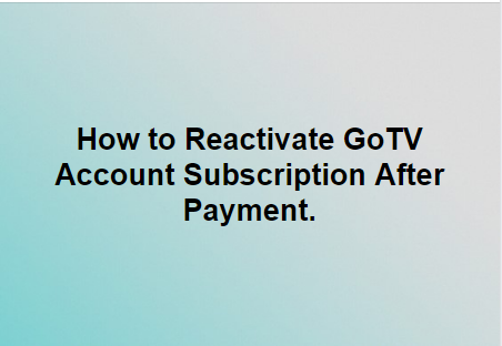 Short Codes to Clear Error, Reset or Activate Gotv Decoder