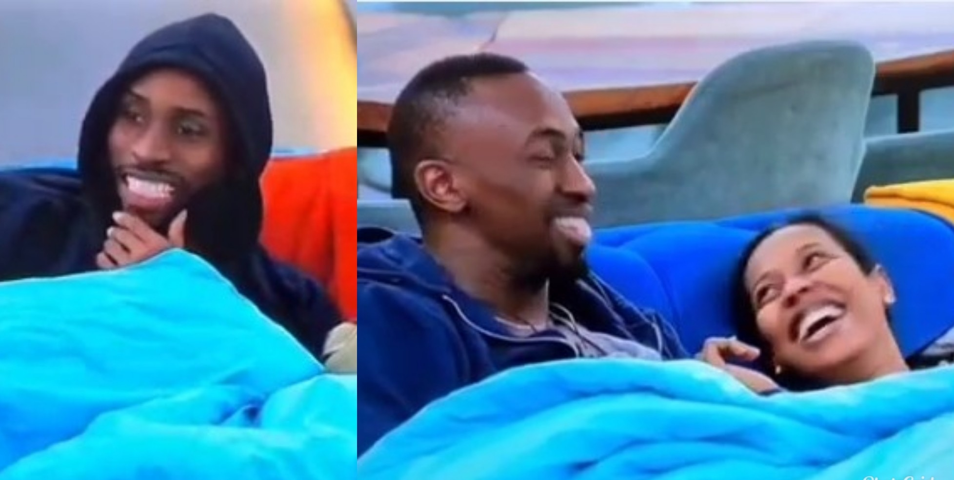 VIDEO: Nini's Reaction After Emmanuel Caught Her Rubbing Saga's 'D*ck' Under The Duvet