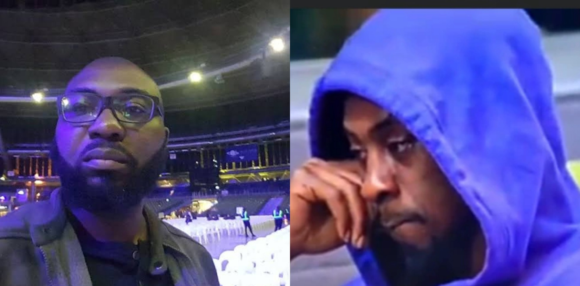 BBNaija's Cameraman Kayode stirs reactions after he posed with Saga with a T-shirt inscription of a statement made by him the night Nini disappeared [PHOTO]
